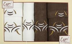 6-dílná sada ručníků a osušek 6RC31- krémové a hnědé