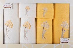 6-dílná sada ručníků a osušek RC6-37- bílé a žluté