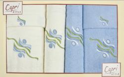 6-dílná sada ručníků a osušek RC6-40- bílé a modré