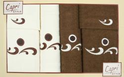 6-dílná sada ručníků a osušek RC6-41- bílé a hnědé