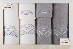 6-dílná sada ručníků a osušek RC6-46-bílé a šedé