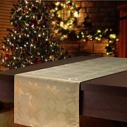 Vánoční běhoun na stůl zlatý