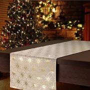 Vánoční běhoun na stůl zlatý s hvězdami