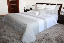 Přehoz na postel bílo-šedý 45D 200x220cm