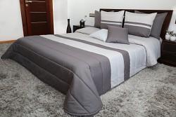 Přehoz na postel šedo-grafitový 45E