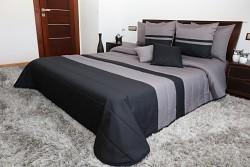 Přehoz na postel grafitovo-černý 45F 200x220cm