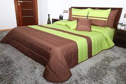 Přehoz na postel zeleno-hnědý 45H 200x220cm