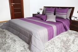 Přehoz na postel fialovo-grafitový 45K