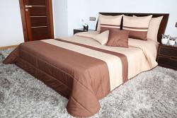 Přehoz na postel béžovo-hnědý 45L