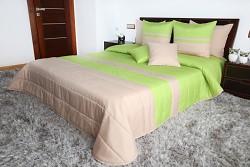 Přehoz na postel béžovo-zelený 45M
