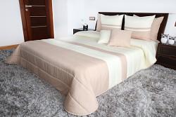 Přehoz na postel béžovo-krémový 45N 200x220cm