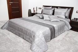 Přehoz na postel šedý 44F