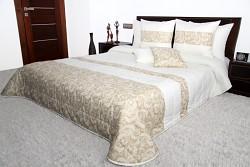 Přehoz na postel krémovo-béžový 44H