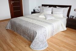 Přehoz na postel krémovo-béžový 44o