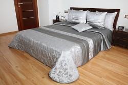 Přehoz na postel šedý-stříbrný 44P