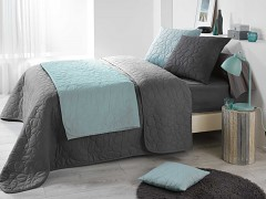Přehoz na postel UNI /Bisou Dark Grey 220x240
