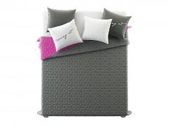 Přehoz na postel NEXT/Dark Grey & Fuchsia 220x240