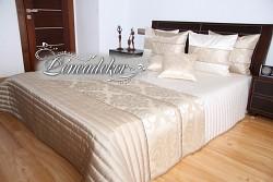 Přehoz na postel světle béžový 260x240cm