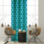 Závěs s marockým vzorem tyrkysový