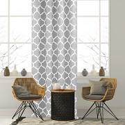 Závěs s marockým vzorem šedý světlý