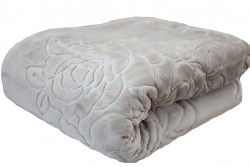 Luxusní deka akrylová- holubí šedá 160x210cm