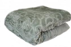 Luxusní deka akrylová- olivově šedá 160x210cm