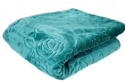 Luxusní deka akrylová- tyrkysová 160x210cm