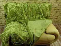 Luxusní deka olivová 160x210cm