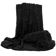Přehoz na sedací soupravu černý se vzorem