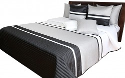 Přehoz na postel NM49A černo-stříbrný 170x210cm