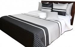 Přehoz na postel NM49A černo-stříbrný