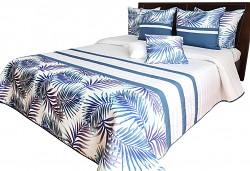 Přehoz na postel NM50A bílý-granátový