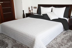 Přehoz na postel černý/bílý