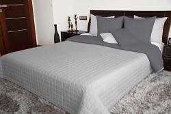 Přehoz na postel šedý/grafitový oboustranný 170x210cm