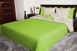 Přehoz na postel zelený/béžový