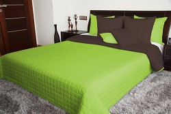 Přehoz na postel zelený/hnědý