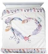 Přehoz na postel Srdce -200x220cm