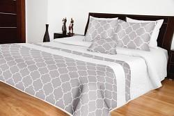 Přehoz na postel bílo-šedý