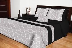 Přehoz na postel černo-šedý