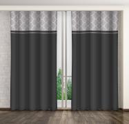 Závěs černý s šedým vzorem