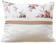 Povlak na polštář krémový s květy 28i