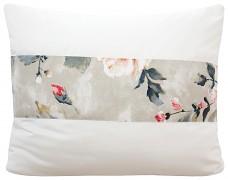 Povlak na polštář krémový s květy 44A-01