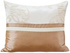 Povlak na polštář krémovo-kakaový 28P-02