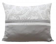 Povlak na polštář bílo-šedý 36H-02
