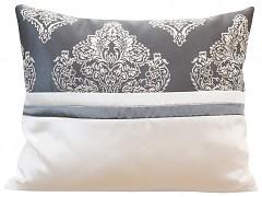 Dekorační polštář krémovo-šedý 44T