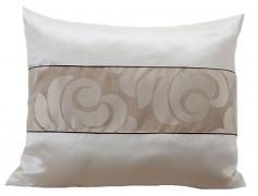 Dekorační polštář kakaovo-krémový 37B1-01