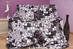 Přehoz na sedací soupravu kameny šedé