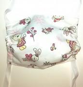 Rouška dětská bavlněná- zvířátka v růžové