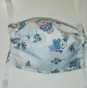 Rouška dětská bavlněná- zvířátka v modré