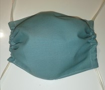 Rouška bavlněná-zelená chirurgická